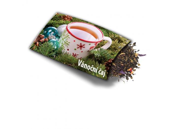 Pohled s dárkem Vánoční čaj