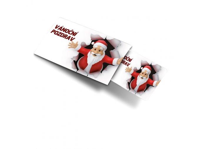Pohled s dárkem Vánoční pozdrav