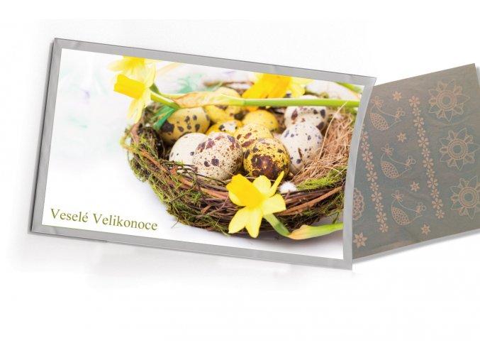Pohled s dárkem: Veselé Velikonoce