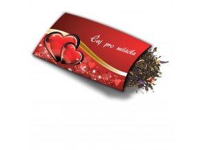 Pohled s dárkem Čaj pro miláčka