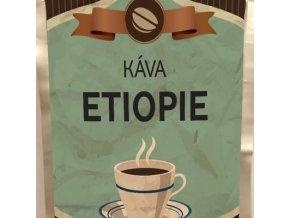 Káva Etiopie stříbrný sáček