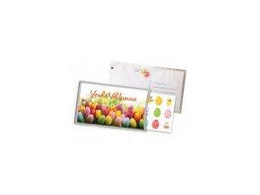 Přání s dárkem: Veselé Velikonoce - tulipány