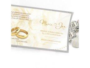 Pohled s dárkem - pozvánka na svadbu