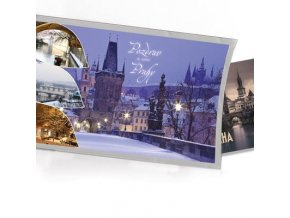 Pohled s dárkem Praha Malá strana