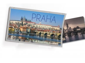 Pohled s dárkem Praha hrad