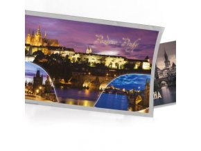 Pohled s dárkem Pozdrav z Prahy