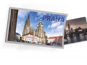Pohled s dárkem Praha katedrála