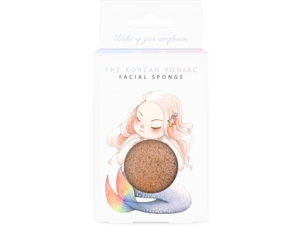 MB25M Mythical Mermaid French Pink Clay Konjac Face Sponge And Hook 1 600x