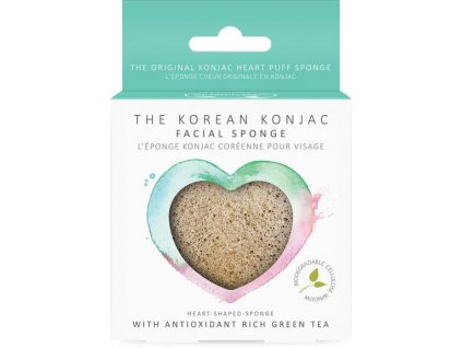 8527P Hearts Green Tea Konjac Heart Sponge 1 400x