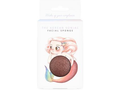 MB24M Mythical Mermaid French Red Clay Konjac Face Sponge And Hook 1 400x