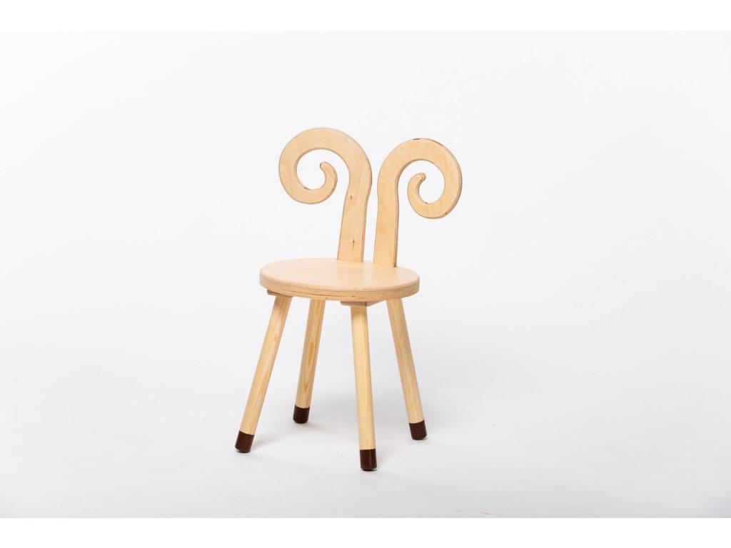 dětská židle BERAN - přírodní