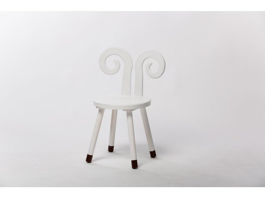 dětská židle BERAN - bílá