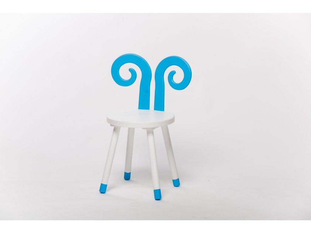 dětská židle BERAN - bílá/modrá