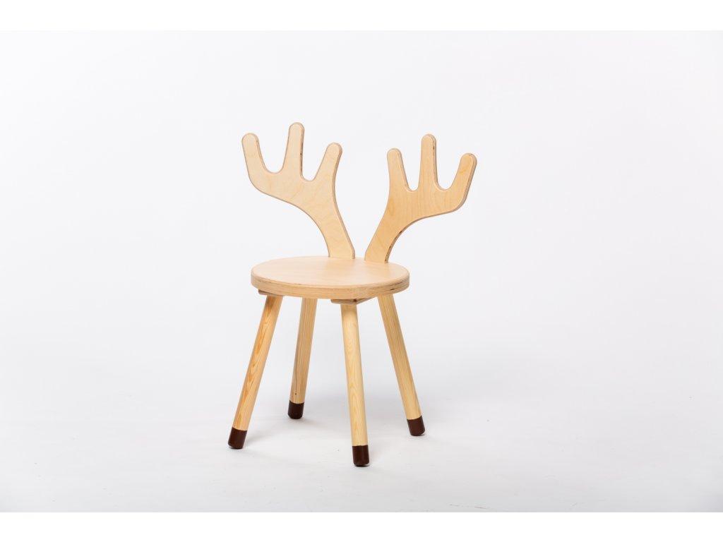 dětská židle JELEN - přírodní
