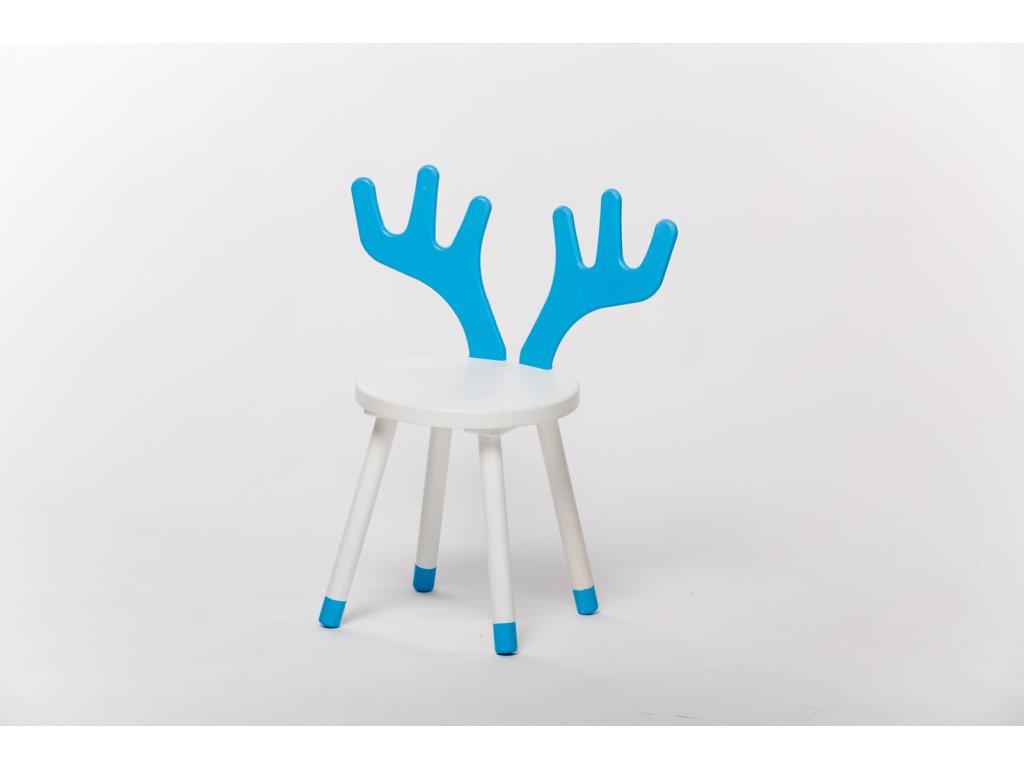 dětská židle JELEN - bílá/modrá