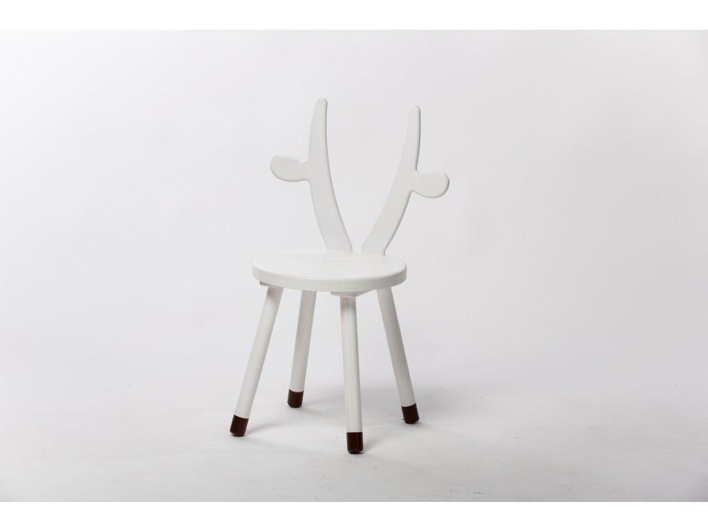 dětská židle KRÁVA - bílá