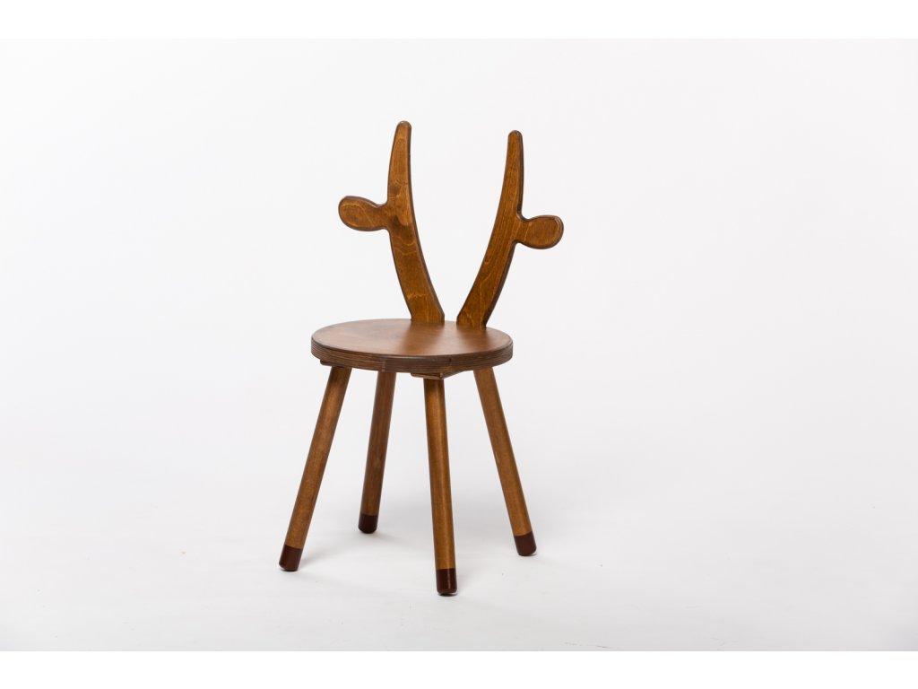 dětská židle KRÁVA - ořech