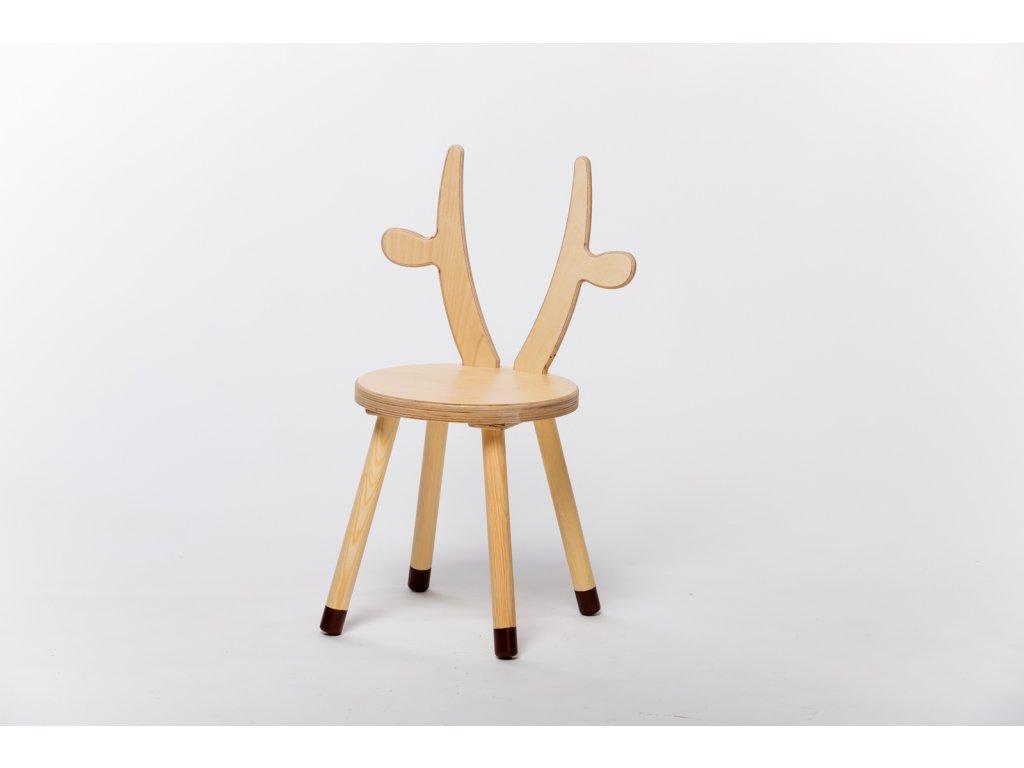 dětská židle KRÁVA - přírodní