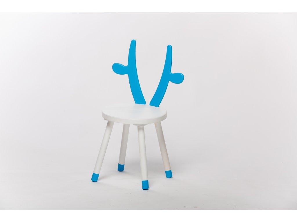 dětská židle KRÁVA - bílá/modrá