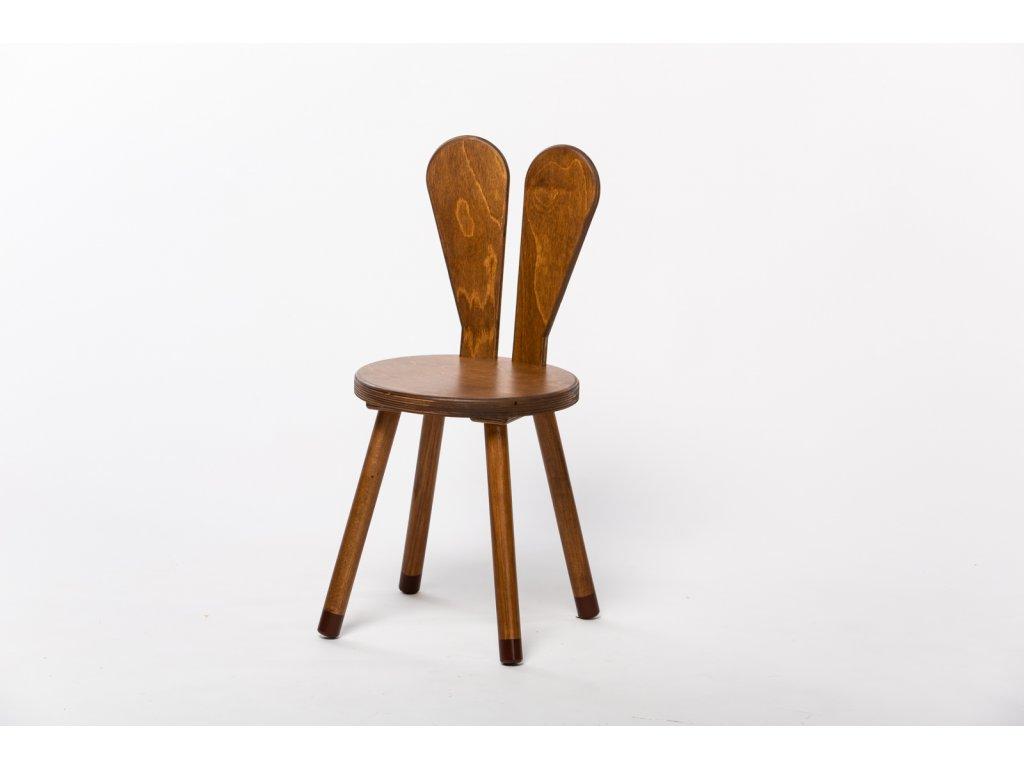 dětská židle ZAJÍC - ořech