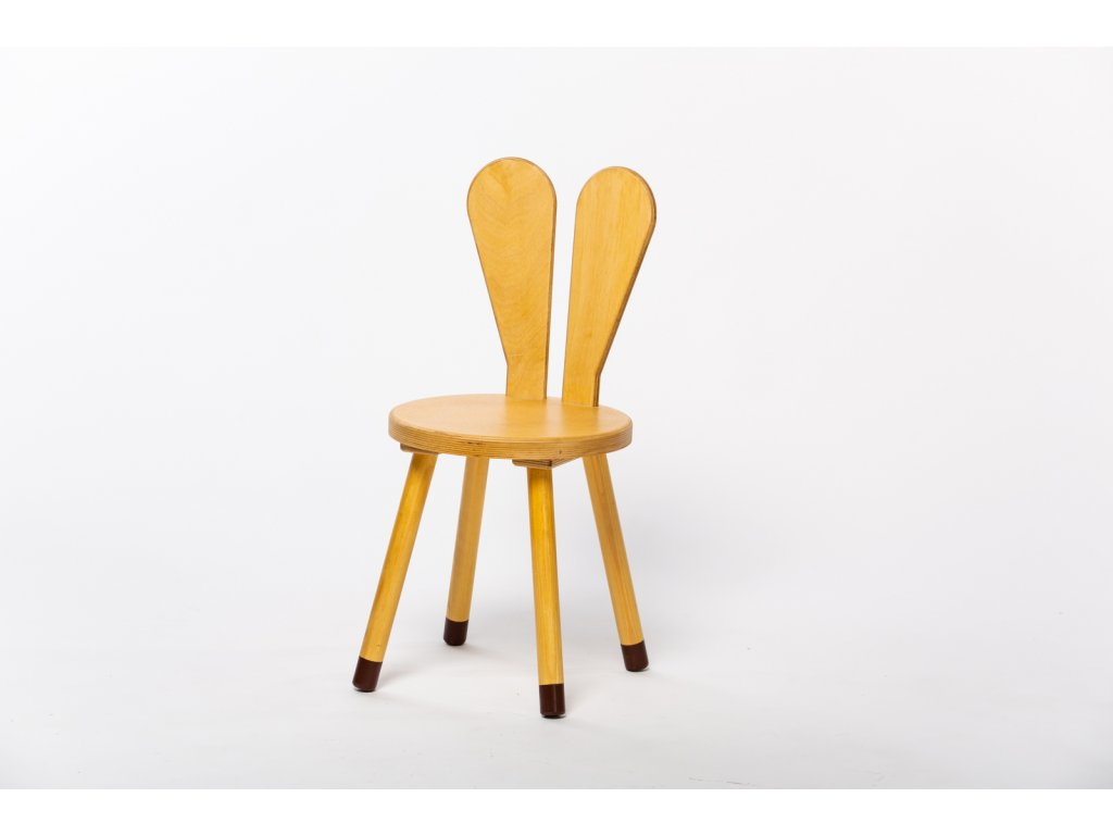 dětská židle ZAJÍC - dub