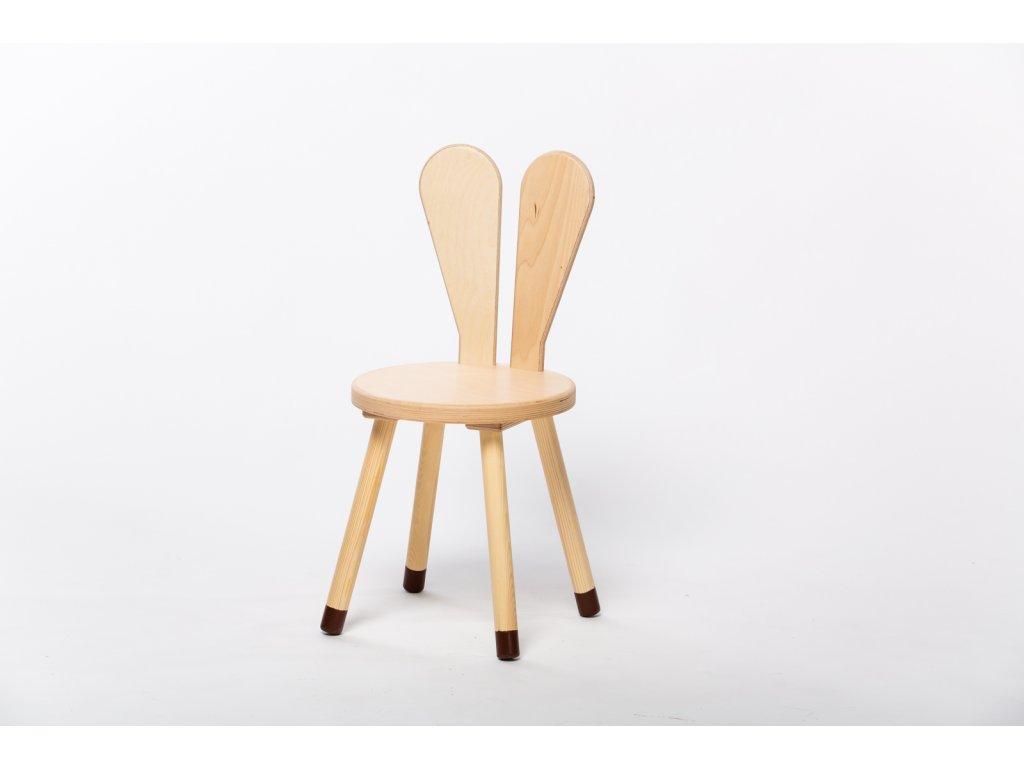 dětská židle ZAJÍC - přírodní