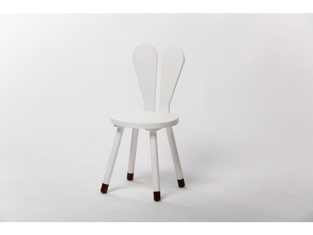 dětská židle ZAJÍC - bílá
