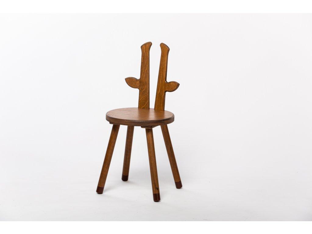 dětská židle ŽIRAFA - ořech
