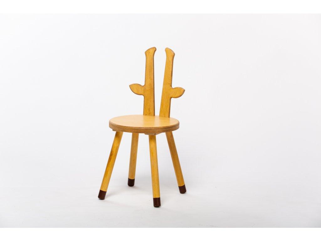 dětská židle ŽIRAFA - dub