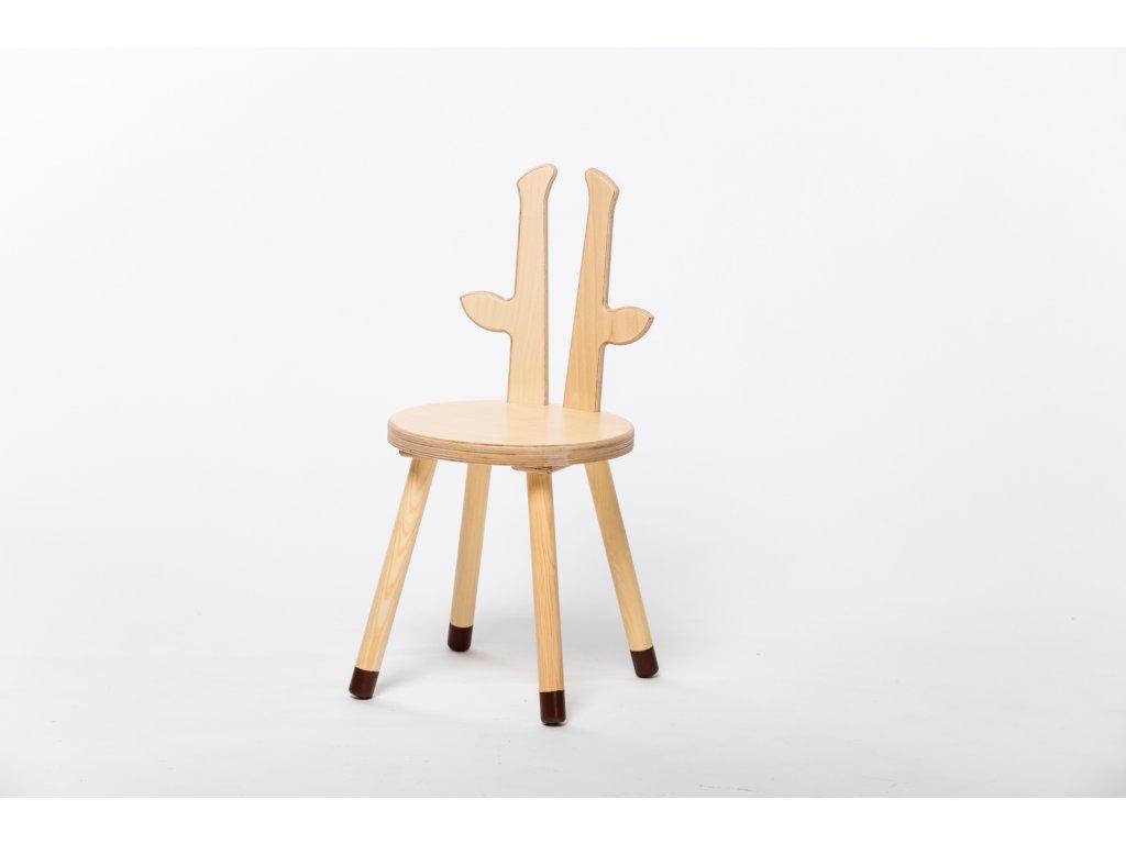 dětská židle ŽIRAFA - přírodní