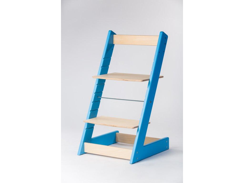 rostoucí židle ALFA I - PRIME modrá/přírodní