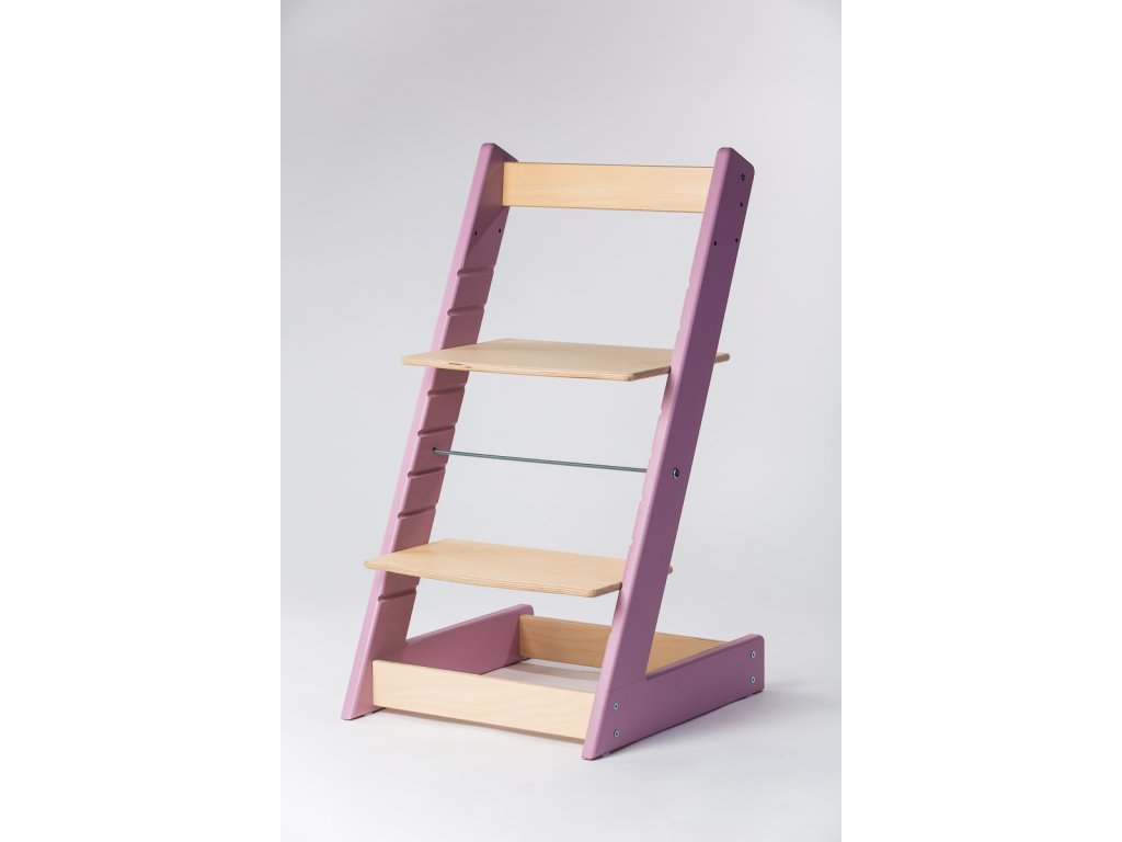 rostoucí židle ALFA I - PRIME lila/přírodní