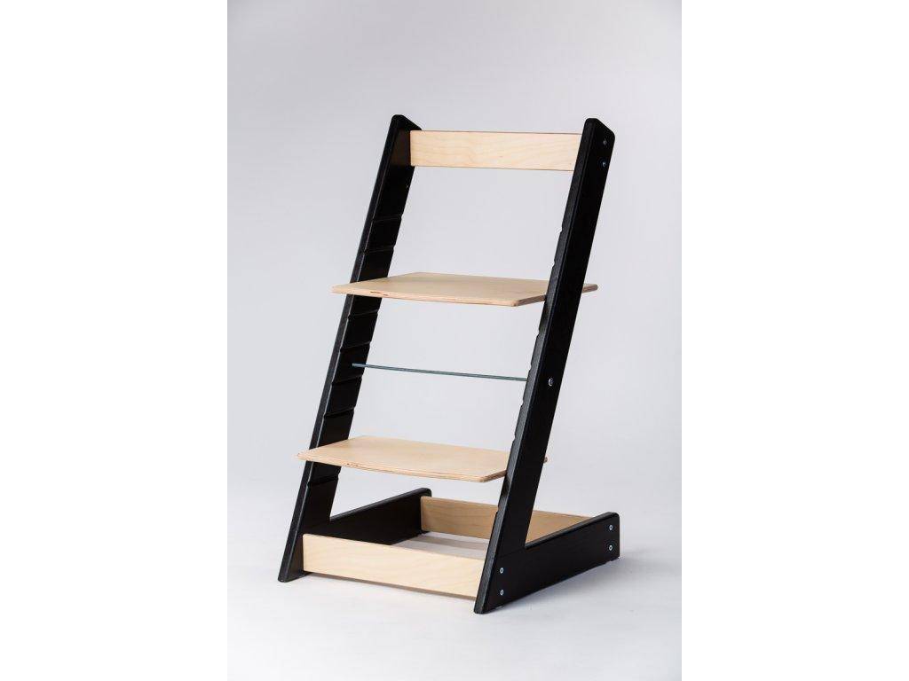 rostoucí židle ALFA I - PRIME černá/přírodní