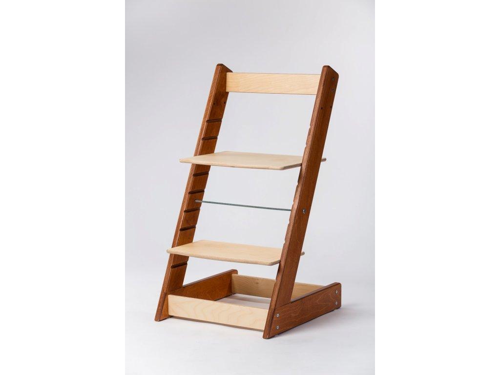 rostoucí židle ALFA I - PRIME mahagon/přírodní
