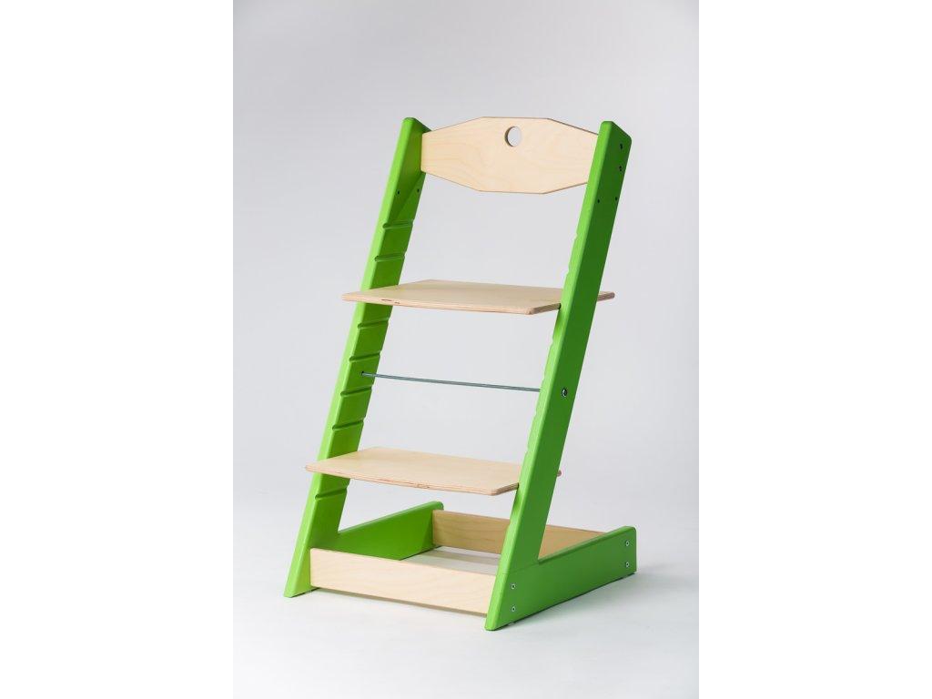 rostoucí židle ALFA II - PRIME zelená/přírodní