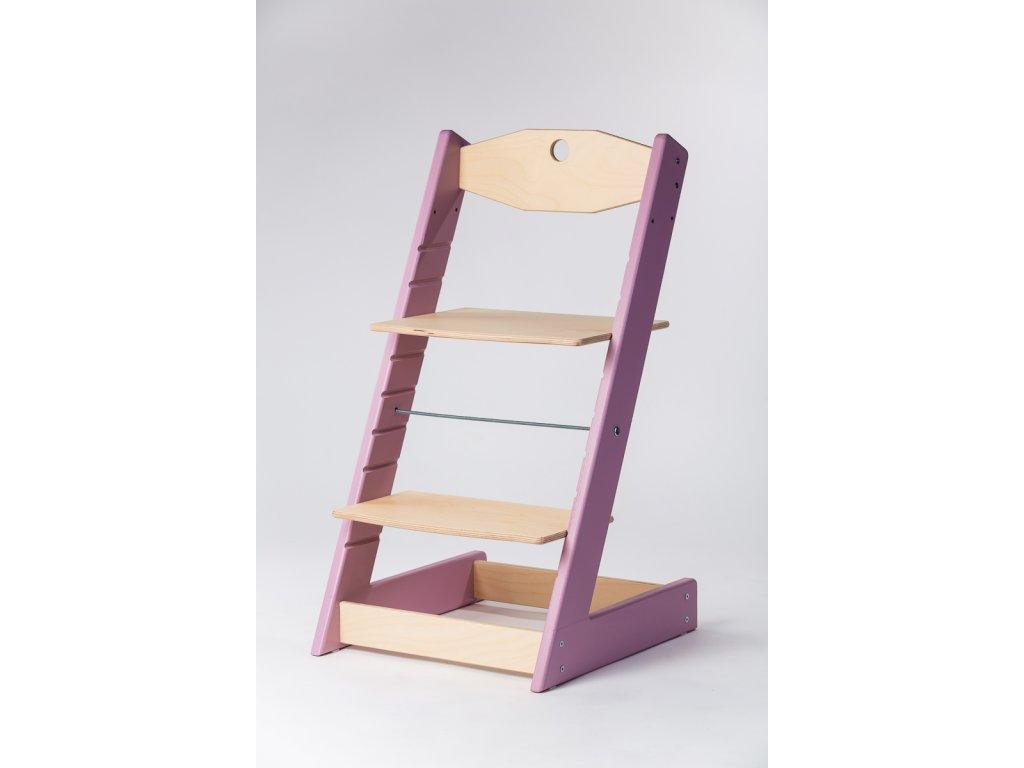 rostoucí židle ALFA II - PRIME lila/přírodní