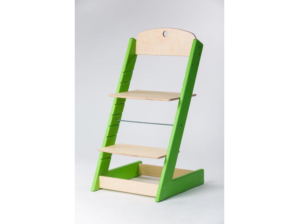rostoucí židle ALFA III - PRIME zelená/přírodní
