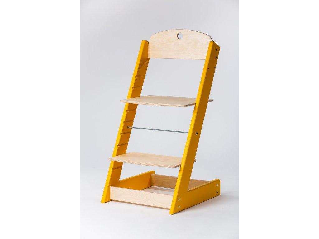 rostoucí židle ALFA III - PRIME žlutá/přírodní