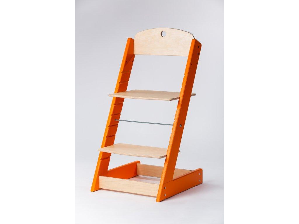 rostoucí židle ALFA III - PRIME oranžová/přírodní