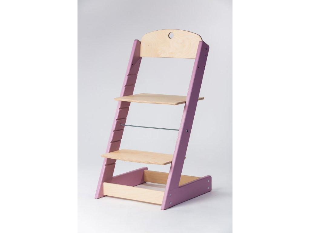 rostoucí židle ALFA III - PRIME lila/přírodní