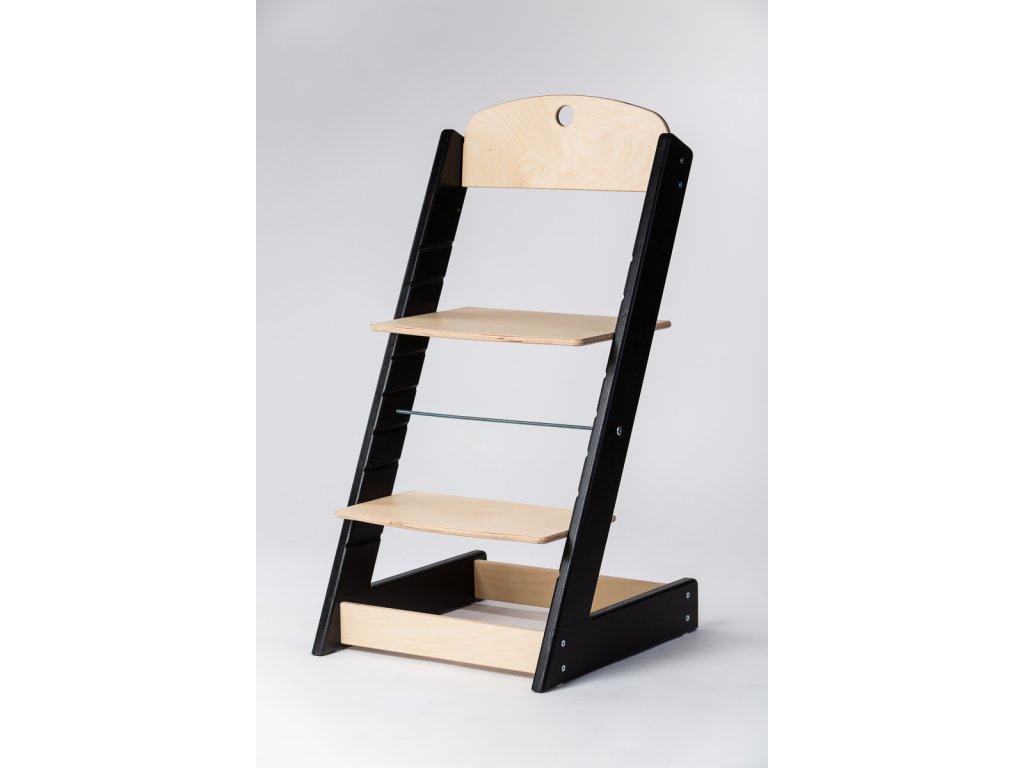 rostoucí židle ALFA III - PRIME černá/přírodní