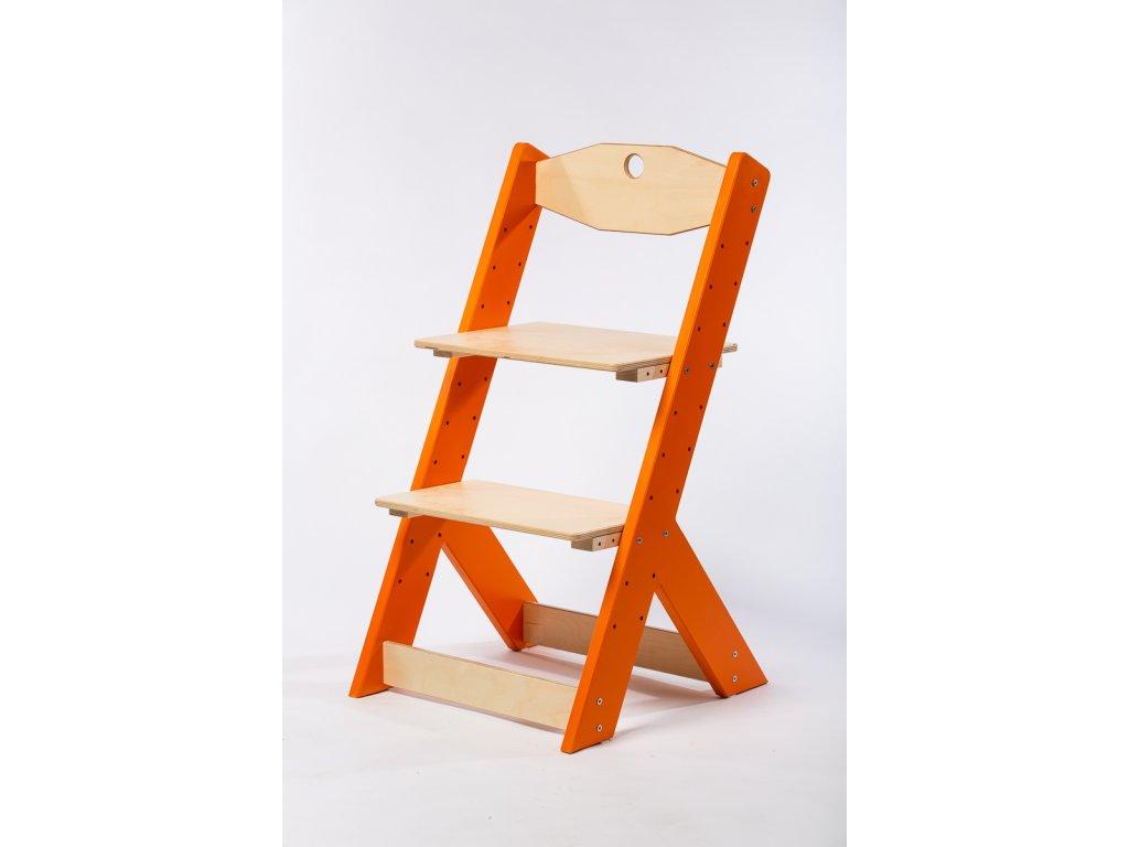 rostoucí židle-6. ORANŽOVÁ TYP II
