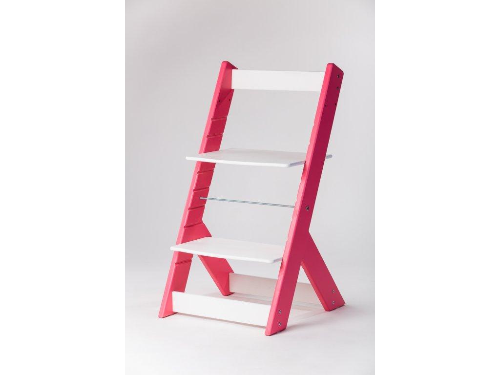 rostoucí židle OMEGA I - PRIME růžová/bílá
