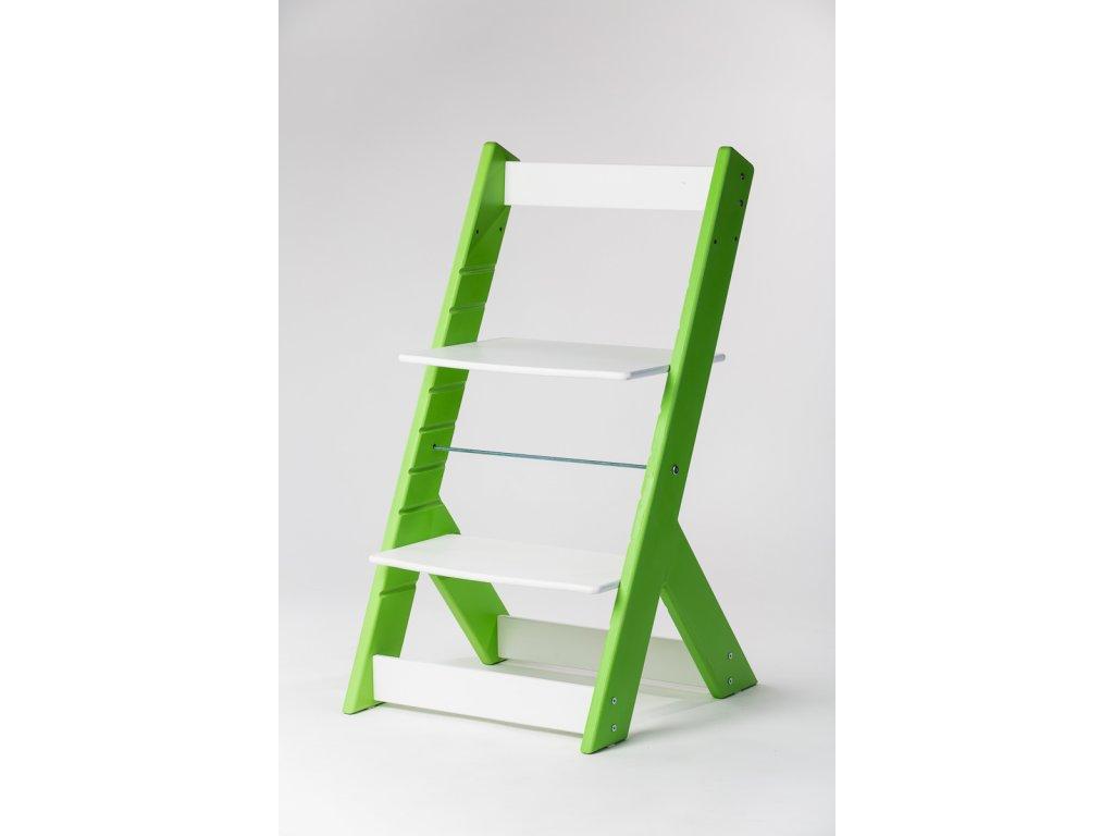 rostoucí židle OMEGA I - PRIME zelená/bílá