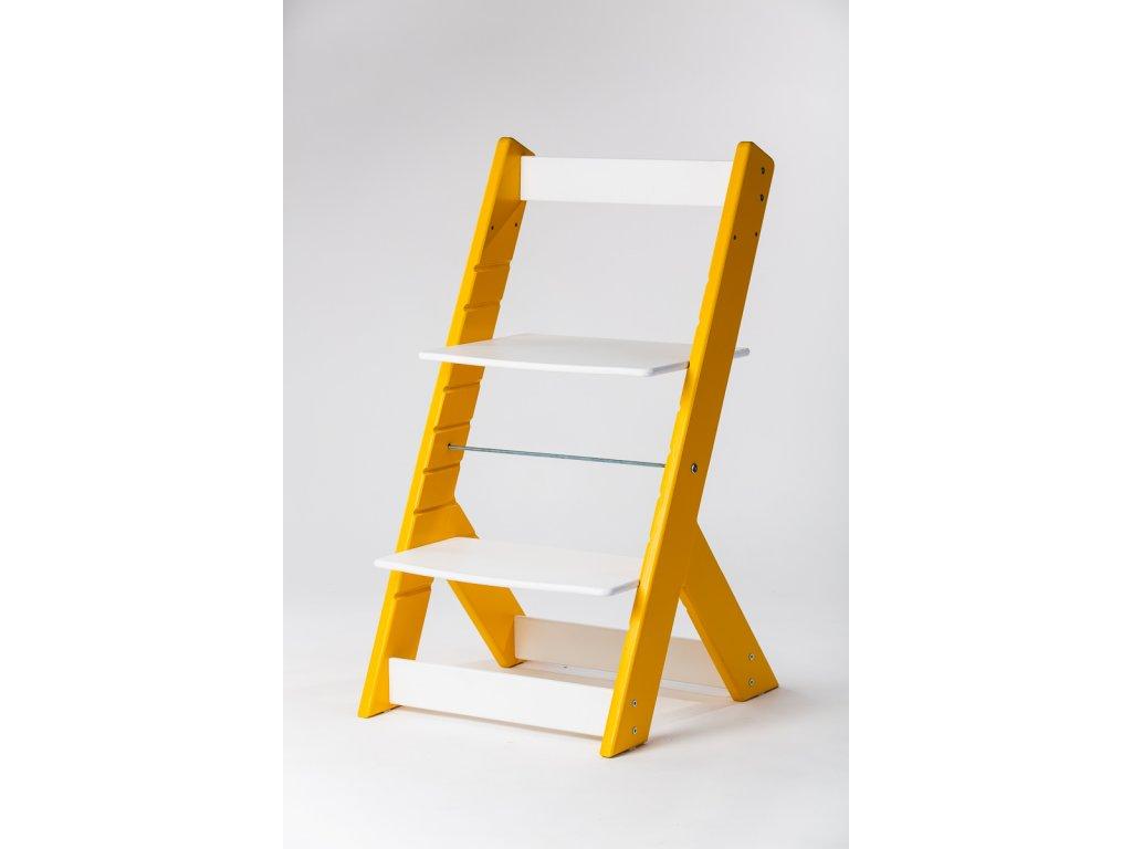 rostoucí židle OMEGA I - PRIME žlutá/bílá