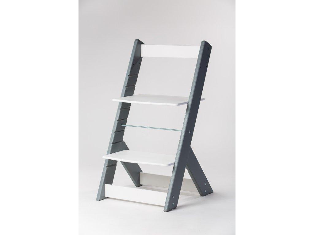 rostoucí židle OMEGA I - PRIME šedá/bílá