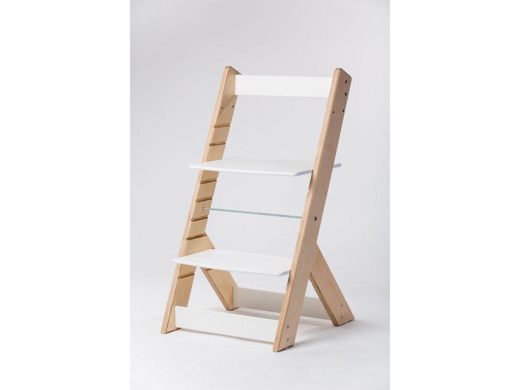 rostoucí židle OMEGA I - PRIME přírodní/bílá