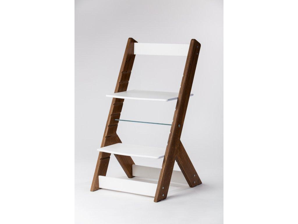 rostoucí židle OMEGA I - PRIME ořech/bílá