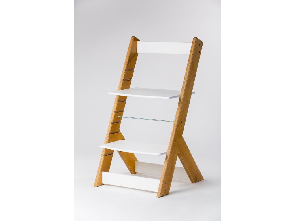 rostoucí židle OMEGA I - PRIME dub/bílá