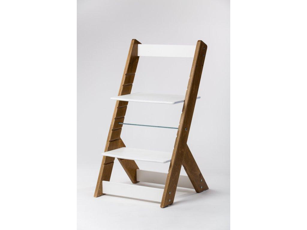 rostoucí židle OMEGA I - PRIME kaštan/bílá